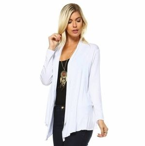 Sweaters - NEW White Cardigan Sz Medium Sweater Top Pretty